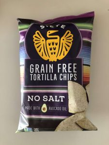 Siete NO SALT GRAIN FREE TORTILLA CHIPS